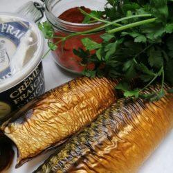Rilette van gerookte makreel per 100 gr.