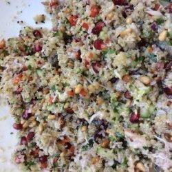 Quinoa noordzeekrab granaatappel per 100 gr.