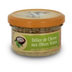 Délice de chèvre aux olives vertes